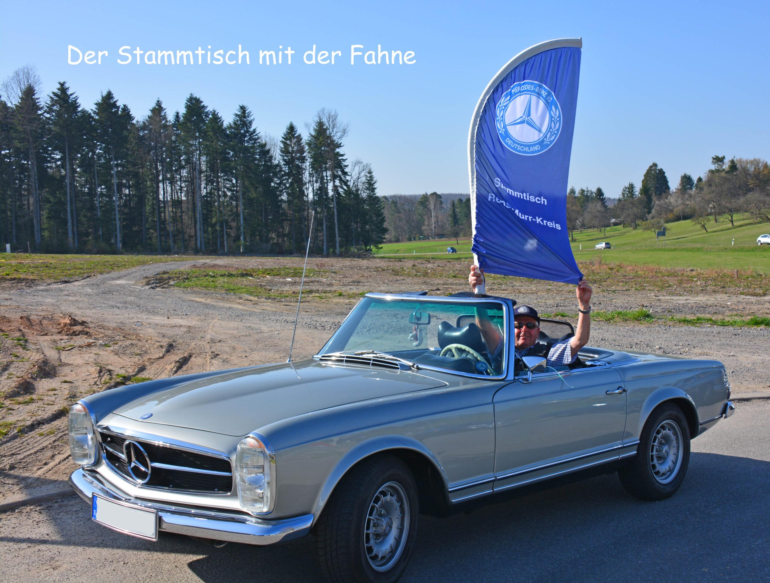 Gerd mit Fahne
